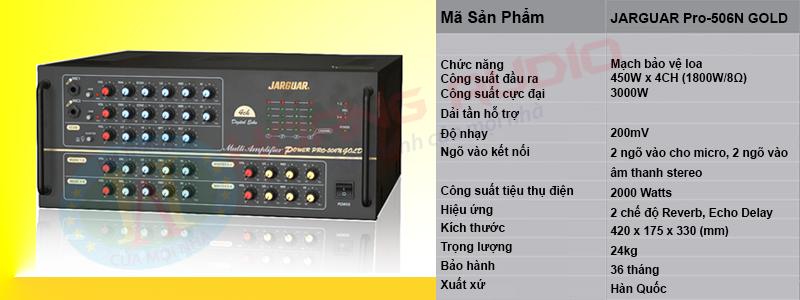thong-so-ky-thuat-Ampy JARGUAR Pro-506N GOLD