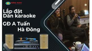 Bộ karaoke chuyên nghiệp nhỏ nhắn cho không gian gia đình A Tuấn - Hà Đông