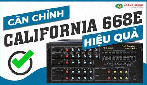 Cách chỉnh amply Karaoke California Pro 668E hiệu quả nhất