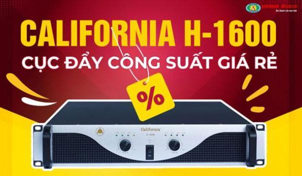 Cục đẩy công suất karaoke giá rẻ California H-1600