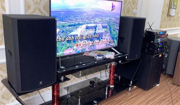 Lắp bộ dàn karaoke 4 Acoustic - HAS cao cấp cho gia đình Anh Thuỳ - Hà Đông