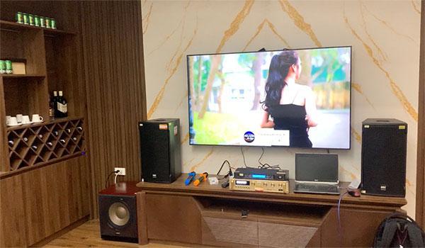 Lắp đặt bộ karaoke HAS cho gia đình Anh Huy - Hà Đông - HN