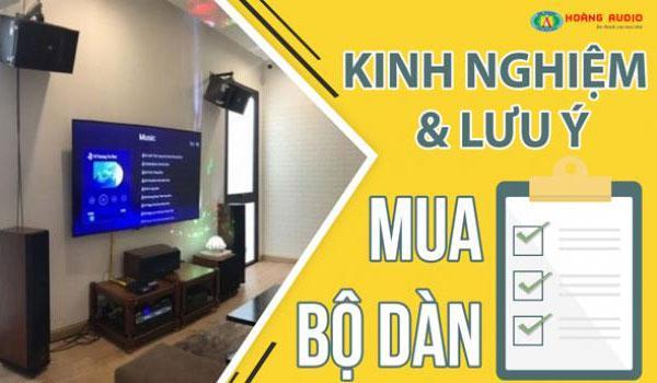 Những kinh nghiệm, lưu ý khi chọn mua dàn karaoke cho gia đình