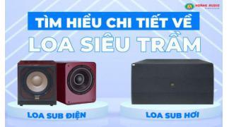 Tìm hiểu chi tết về loa siêu trầm - Hoàng Audio